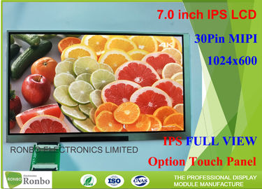 Customized Ratio Scale 16:9 MIPI Interface 7.0 Inch 1024*600 Tablet LCD Display