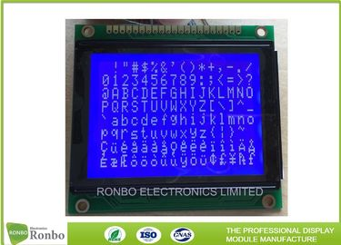 STN Blue Negative Graphic LCD Module 128 X 64 Dots ISO9001 Certification