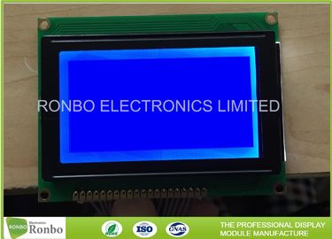 128x64 STN Blue Negative Graphic LCD Module COB Screen With 6800 Interface
