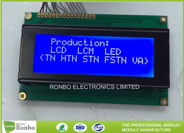 COB STN / FSTN Character Display Module , 20 * 4 Dots Monochrome Lcd Display